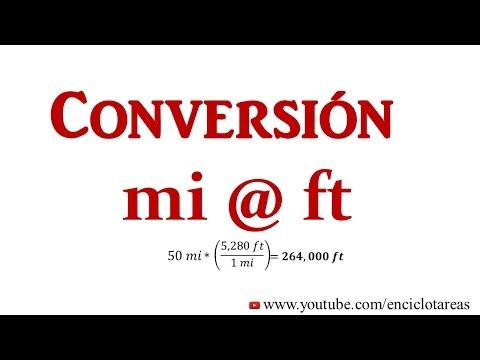 Convertir Millas a Pie (mi a ft)