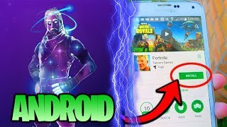 FORTNITE IS FINALLY SORTIE ON ANDROID WITH a NEW SKIN! HOW to INSTALL it?