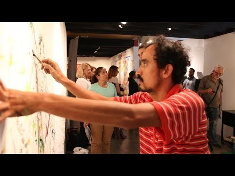 Live Mural event at Beyond the Lines Gallery - Bergamot Station, Santa Monica