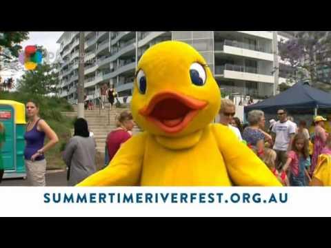 Summertime Riverfest Featuring Australia's Biggest Duck Race