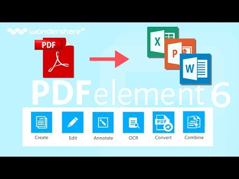 How to Edit PDFs Like A Pro (Convert Scanned Text, Forms to Word, Excel, CSV) PDFelement 6 Pro