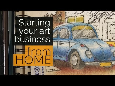 Running a successful art business from home