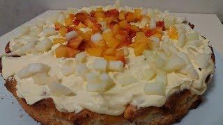 Ленивый Торт или Пирог с Персиками Это Очень Вкусно. Пирог без заморочек