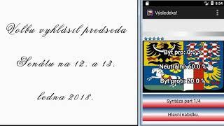 Volba prezidenta České republiky 2018 OSVO Basic(android app, zcela zdarma v plné verzi)