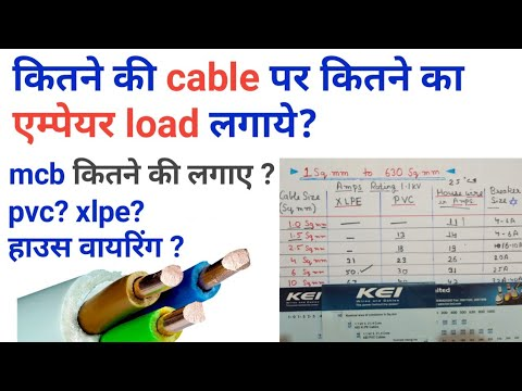 Cable Size Calculation Cable Size And Amps Wire Rating Cable Size Chart Wire Size Chart Youtube