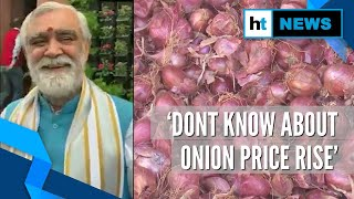 'I'm a vegetarian, don't know about onion price': Ashwini Choubey