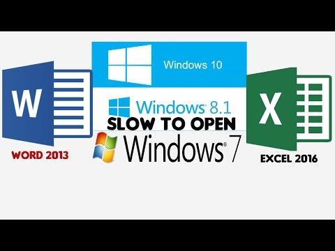 Fixing Problems with Starting Microsoft Office Word, Excel