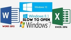 OFFICE 2016 slow opening problem solution Hindi