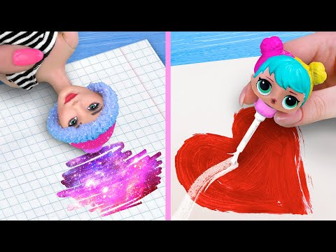 12 DIY LOL Surprise And Barbie School Supplies And Crafts