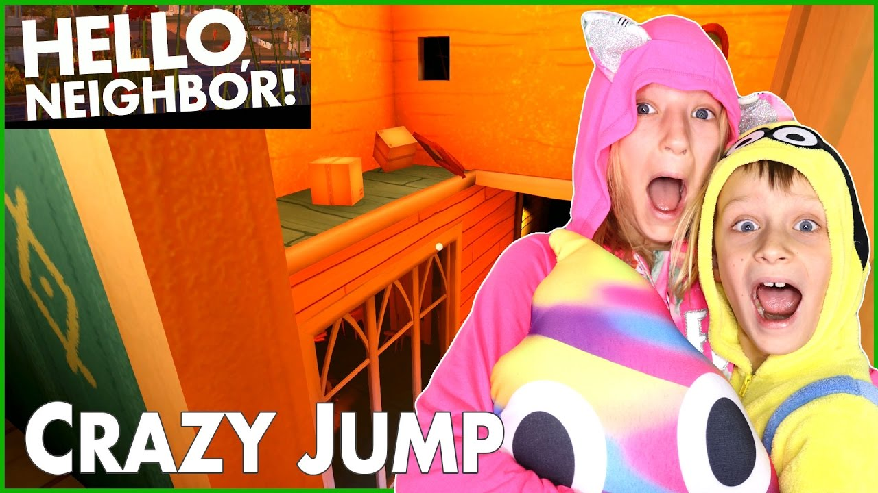 Hello Neighbor This Crazy Jump Is Too Difficult Youtube