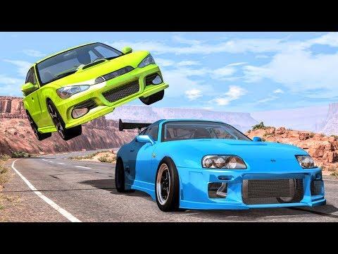 Best Of Street Racing Crashes #1 - BeamNG Drive   CrashBoomPunk