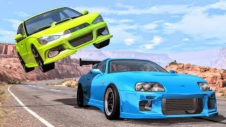 Best of Street Racing Crashes #1 - BeamNG Drive | CrashBoomPunk