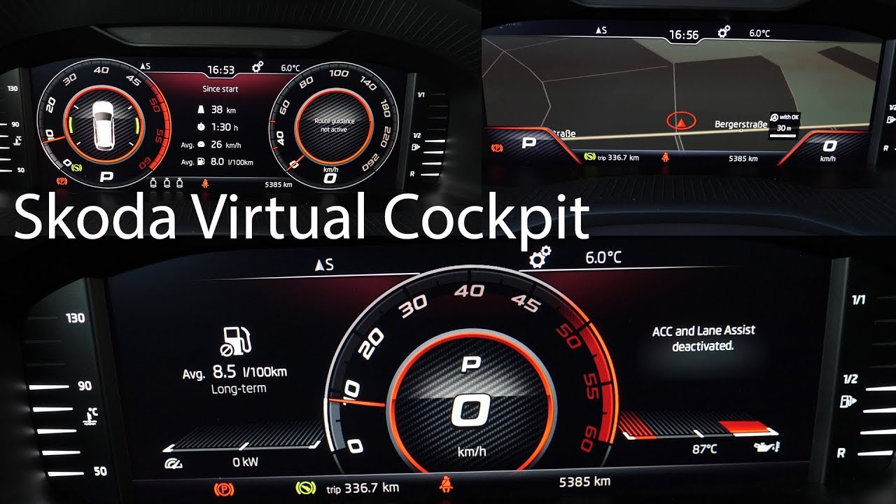 Skoda VIRTUAL COCKPIT Test / The new digital instrument cluster for Skoda  and Seat [4K] - Autophorie