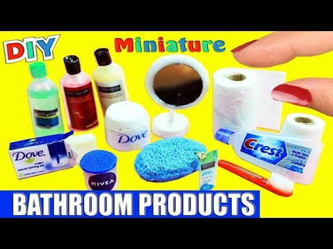 How to Make 100% Real Working Miniature Bath / Bathroom  Accessories - 10 Easy DIY Doll Crafts