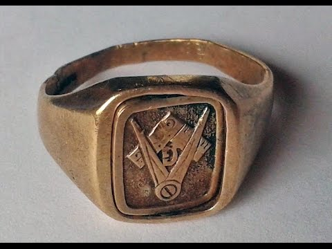 How to Solder Gold and Repair a Damaged Masonic Ring clean & Polish