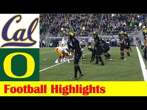 California vs #9 Oregon Football Game Highlights 10 16 2021