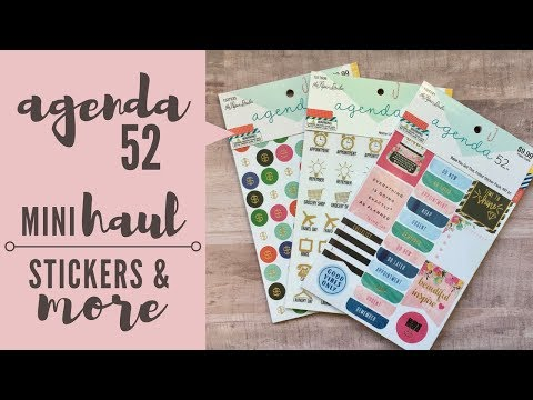 Agenda 52 @ Hobby Lobby | Stickers, Pencil Case & Ink Pens Mini Haul