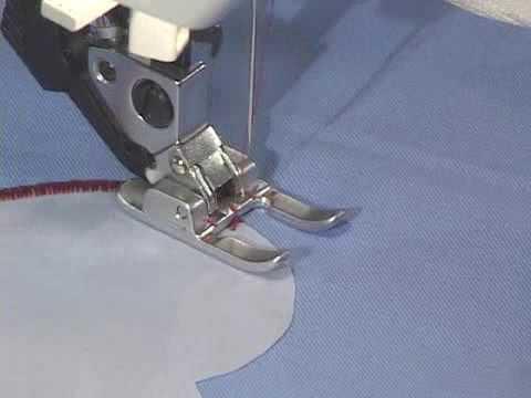 Pfaff sewing machine open toe applique foot youtube