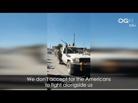 American forces are leaving the town of Al Rai
