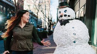 Top 50 Scary Snowman Pranks Of All Time