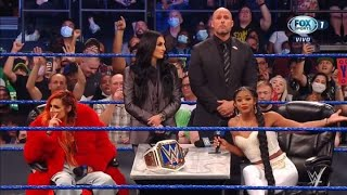 Becky Lynch and Bianca Belair Contract signing WWE Smackdown 9 10 21