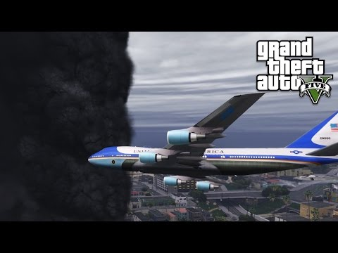 GTA 5 Mods - Air Force One vs Tornado Mod ? (Tornado vs Plane)