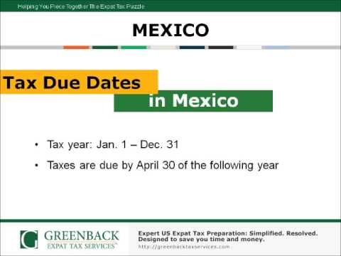 US Expat Living in Mexico? Expatriate Tax Preparation Information You Can't Miss!
