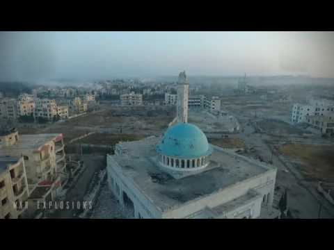 Look at the destruction of Aleppo from above