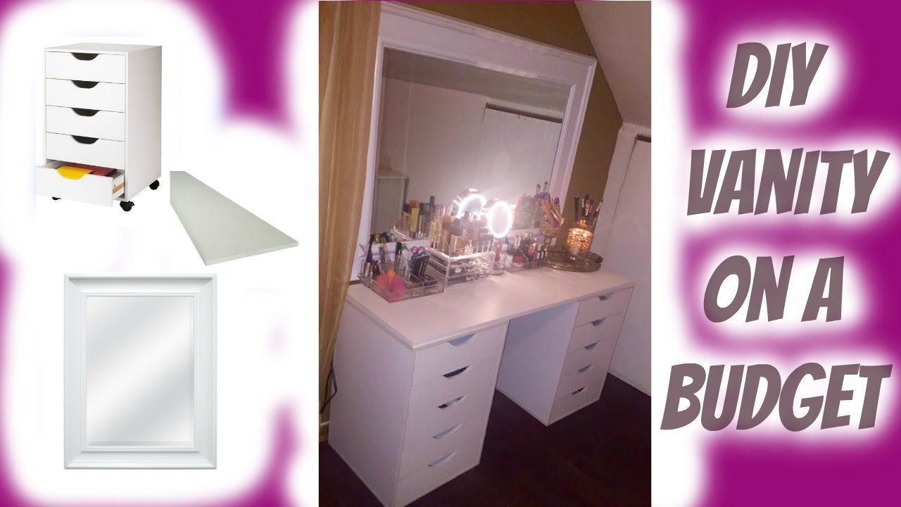 DIY Vanity (Ikea Dupe) Under $100 | Makeup Collection Dec 2015   YouTube
