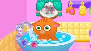Суровый КОТИК БУБУ #1. Салон красоты. Спа ванная. Мультик игра про котят