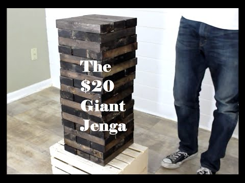 Make your own $20 Giant Jenga! – EASY DIY PROJECT