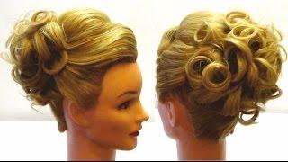 Вечерняя прическа. Праздничная прическа .Evening hairstyle(, 2013-12-23T16:54:28.000Z)