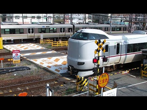 踏み切り- The Worst Railway Crossing in Japan ! 40 min. closed !!!