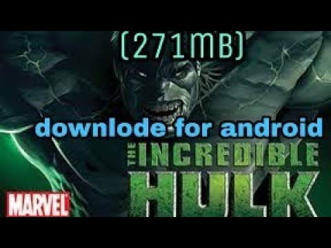 👉👉(271mb) Downlode The Hulk Incredible Game For Android👈👈
