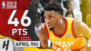 Donovan Mitchell EPIC Full Highlights Jazz vs Nuggets 2019.04.09 - 46 Points, 7 Reb!