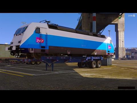 RP GTA V ! Livraison d'un Train pour la SNCF ! Convoi Exceptionnel !