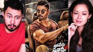 NAA PERU SURYA NAA ILLU INDIA FIRST IMPACT | Allu Arjun | Trailer Reaction!