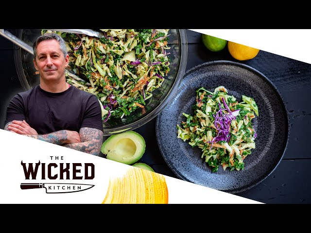 NO OIL x2! Avocado Slaw + Cucumber Ranch Slaw - Healthy Easy Vegan Recipes! | The Wicked Kitchen