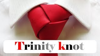 Trinity knot for Begiฑners step by step | How to tie a tie