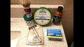 1st Shave of 2018. 1962 H3 Gillette, Stirling Lemon Chill, Midnight & Two Citrus Island Aftershave.