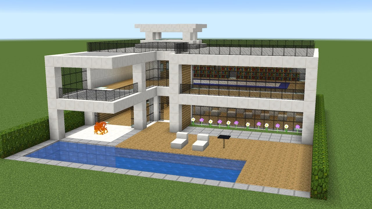 Minecraft how to build a nice modern house