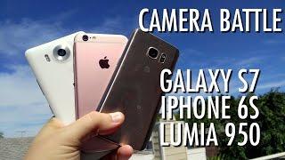 Galaxy S7 vs iPhone 6S vs Lumia 950 - Camera Battle! | Pocketnow