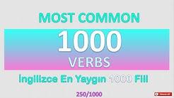 İNGİLİZCE EN ÖNEMLİ 1000 FİİL (250/1000)