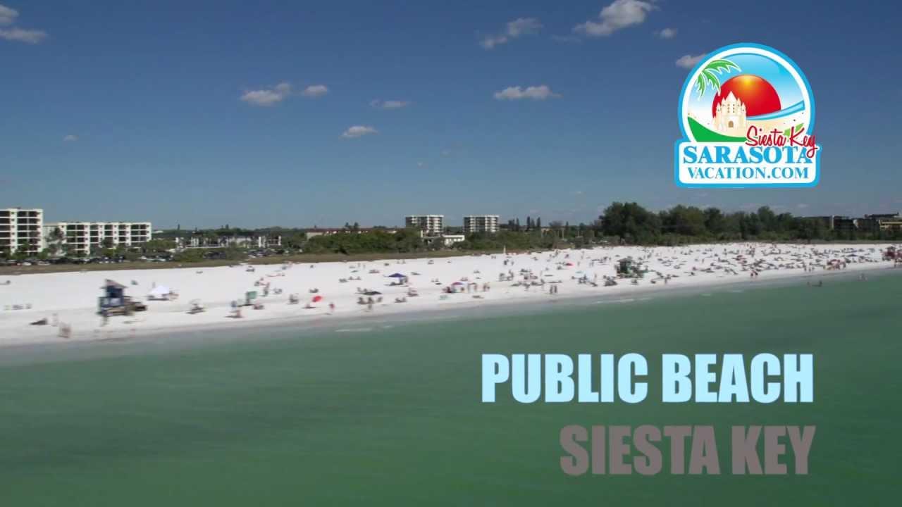 Siesta Key Beaches Aerial Video Of Public Crescent Turtle Beach You