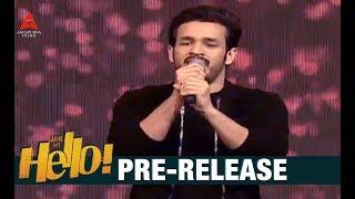 akhil akkineni song performance at hello pre release event akkineni akhil kalyani priyadarshan