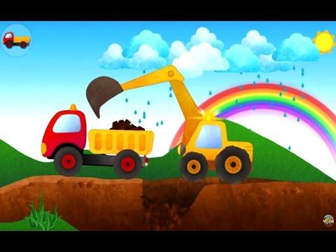 แมคโคร ตักดิน ใส่ รถบรรทุก เกมส์สำหรับเด็ก