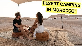 Sleeping in a Luxury Desert Camp in MOROCCO! (North Africa travel vlog)