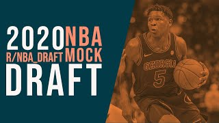 2020 r/NBA_Draft NBA Mock Draft