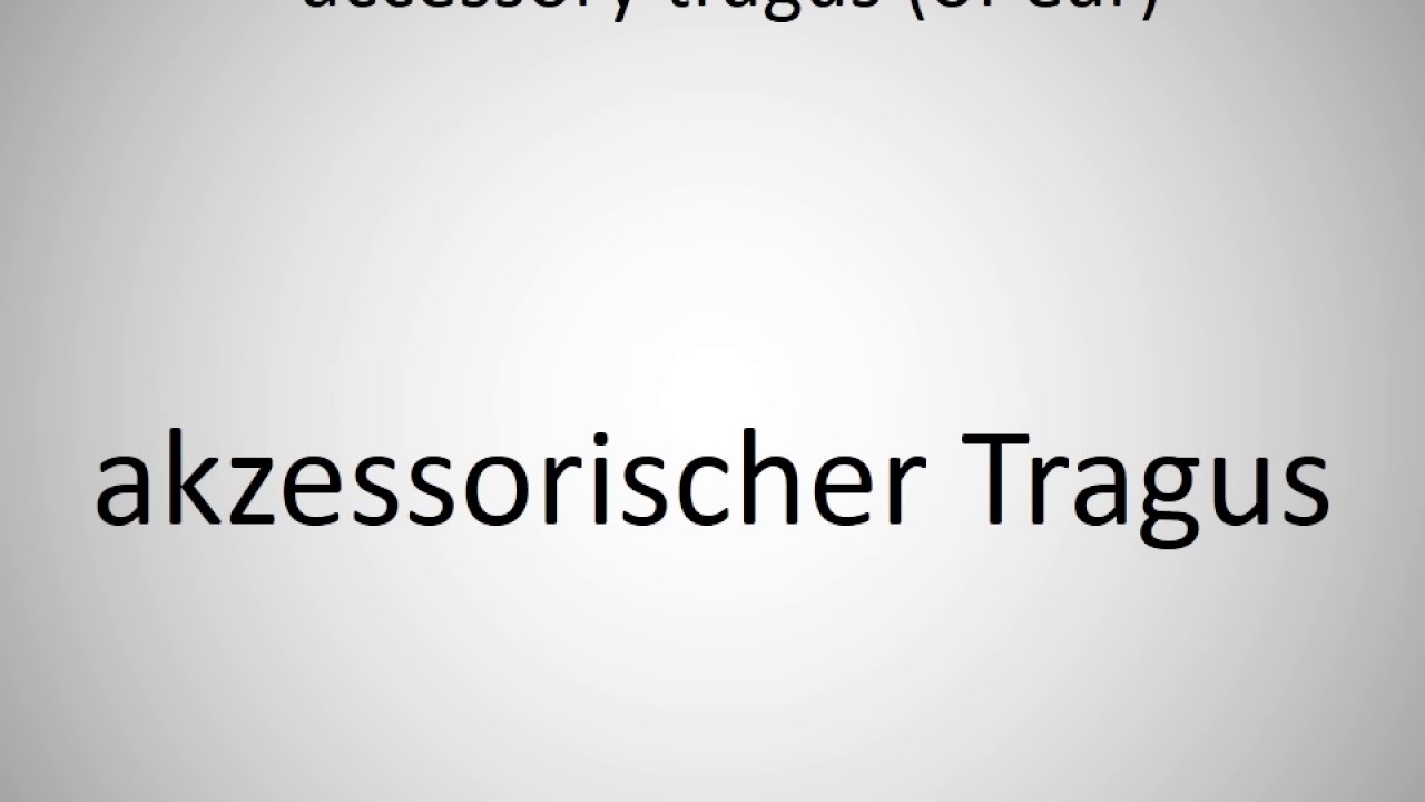 How to say accessory tragus (of ear) in German?