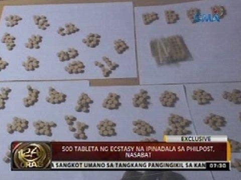 500 tableta ng ecstasy na ipinadala sa PhilPost, nasabat